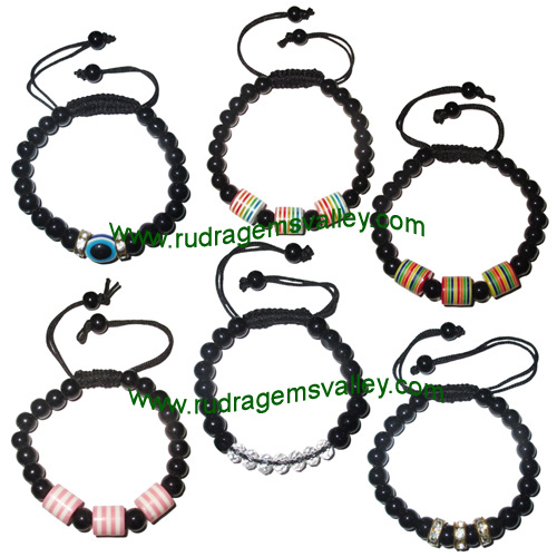 Combo Bracelets Beaded adjustable free size glass beads bracelets (pack of 6 beaded bracelets as per picture)