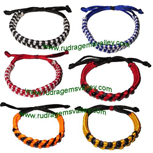 Combo Bracelets Silk braided adjustable free size bracelets (pack of 6 bracelets as per picture)