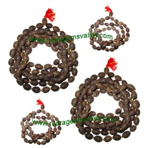 Combo Mala Lotus seeds mala, lakshmi beads mala (kamal gatta) approx 10x15mm beads. 2 mala of 54 beads and 2 mala of 108 beads (pack of 4 malas)