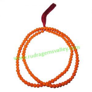Rudrani Beads String (Mala), tiny rudraksha 3.5mm to 4mm size beads mala, pack of 1 string.