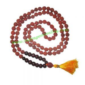 Rudraksha 5 mukhi (five face) 8mm with rosewood prayer mala (94+1 pcs. rudraksha and 14 pcs. rosewood), Indonesian pure original rudraksha with rosewood mala. We also welcome custom design orders. Pack of 1 mala.