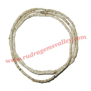 Tulsi beads mala, holy basil, auspicious wood beads-seeds string with screw-hook, length circumference 31 inch, pack of 1 string.