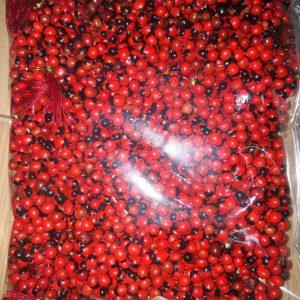 Gunja 108+1 beads knotted mala, also known as chirmi beads mala, rakta gunja mala. Pack of 1 mala