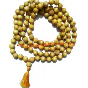 Shami (samee) wood beads 9mm mala 108+1 beads knotted, shami wood (Khejri tree) beads prayer mala. Pack of 1 mala.