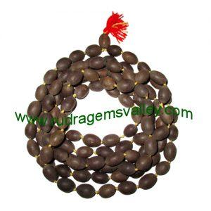 Kamal-Lotus Wood Beads-Seeds String (mala of 108+1 beads), kamalgatta mala made of approx 10x15mm lotus seeds, pack of 1 string.