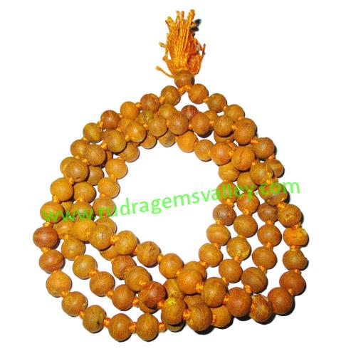 Turmeric (Haldi) Beads-Seeds String (mala of 108+1 turmeric beads), beads size: 7-8mm, pack of 1 string.