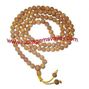 Bodhi mala, budhha mala, buddhism raktu mala, auspicious wood beads-seeds string (prayer mala of 108 beads), beads size 10mm