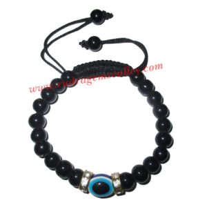 Adjustable beaded free size bracelets, evil eye (nazar) beads bracelets, made of glass beads as per picture. Pack of 1 piece, also available in custom designs and colors as per your instructions.
