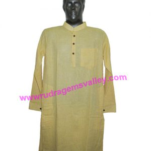 Fine quality full sleeve 44 inches long Indian khadi kurta, available in many chest sizes. Weight approx 500 grams, 4 pockets. Pack of 1 pcs.