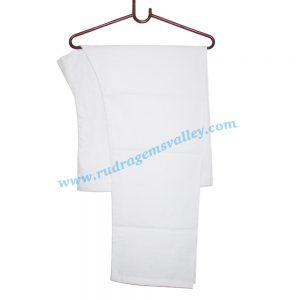 White cotton regular pyjama-pajama with twill tape. Weight approx 100 grams, pack of 1 piece.