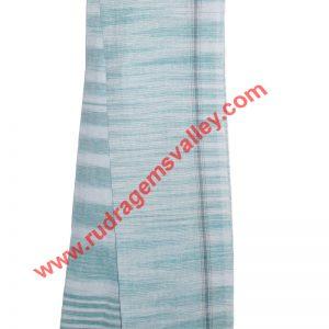 Pure cotton khadi Indian traditional angavastram (gamachha), 1.5 meter long plain cotton khadi towel. Weight approx 150 grams, pack of 1 piece.