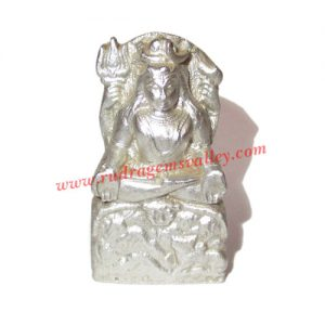 Parad mercury lord shiva statue idol, parad shiva idol, weight approx 71 grams, size 38x26x13mm. It is used for chanting mantras for spiritual attainments as well as multiple health benefits including diabetes, blood pressure and heart diseases by praying