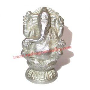 Parad mercury lord ganesha statue idol, parad ganesha idol, weight approx 100 grams, size 46x25x19mm. It is used for chanting mantras for spiritual attainments as well as multiple health benefits including diabetes, blood pressure and heart diseases by pr