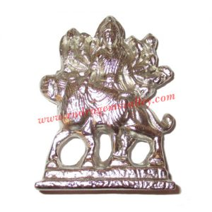 Parad mercury goddess durga statue idol, parad durga idol, weight approx 74 grams, size 59x45mm. It is used for chanting mantras for spiritual attainments as well as multiple health benefits including diabetes, blood pressure and heart diseases by praying
