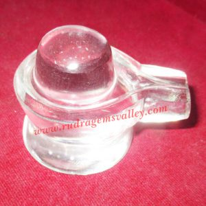 Sphatik crystal shiva linga, prayer accessories, Belgium shphatik shivalingam, weight approx 116 grams, pack of 1 piece.