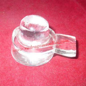 Sphatik crystal shiva linga, prayer accessories, Belgium shphatik shivalingam, weight approx 55 grams, pack of 1 piece.