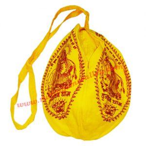 Lord Krishna digital printed japa bag, jaap mali or prayer bag or gomukhi or gaumukhi with zip, similar to the picture, used for chanting mantra.