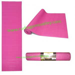 Yoga Mat, excercise mat for yoga, soft-gripped and comfortable mat, size 24x68 inches, thickness 4mm.