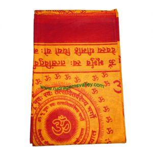 Fine quality gayatri mantra soft yoga scarves, material cotton, size 166x83 CM., weight approx 115 grams, minimum order 1 pcs.