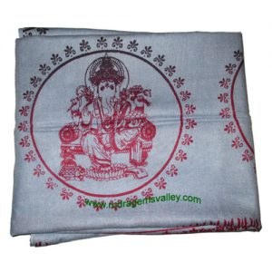 Fine quality lord ganesha soft yoga scarves, material staple rayon, size 182x100 CM., weight approx 150 grams, minimum order 1 pcs.