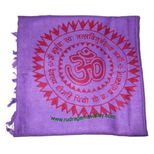 Fine quality gayatri mantra soft yoga scarves, material staple rayon, size 182x100 CM., weight approx 150 grams, minimum order 1 pcs.