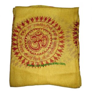 Fine quality gayatri mantra soft yoga scarves, material staple rayon, size 178x92 CM., weight approx 110 grams, minimum order 1 pcs.