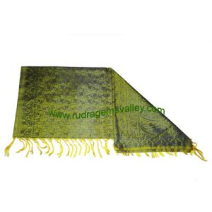 Fine quality fancy printed design soft yoga scarves, material 100 percent pure silk, size 178x92 CM., weight approx 35 grams, minimum order 1 pcs.