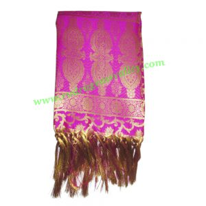 Indian silk scarves, banarasi chadar, fine quality fancy printed design indian silk scarves for women, size 84x36 inch. excluding tassels, weight approx 290 grams, minimum order 1 pcs.