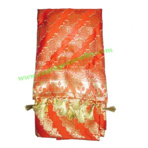 Indian silk scarves, banarasi chadar, fine quality fancy printed design indian silk scarves for women, size 76x21 inch. excluding tassels, weight approx 110 grams, minimum order 1 pcs.