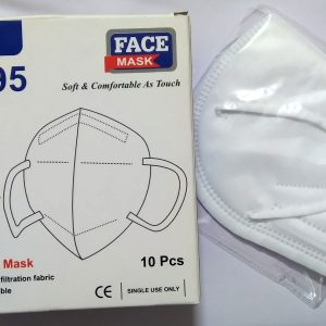 Respirator KN95 face mask, with earloop mount and nosepin, non woven, Pack of 1 Pcs.