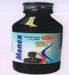 Monex Cough Syrup, useful for Bronchitis, Laryngitis, Sinusitis, Comman Cold, Smokers Cough, Emphysemetous Bronchitis.