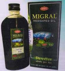 Migral Medicated-Ayurvedic Hair Oil, Useful in Stress Relief; a massage Herbal Cool Oil relaxes the muscles, while its cooling effect on the body and soothes the scalp and relieves tension, help you sleep more naturally. It soothes, relaxes and tones the muscles of the body.