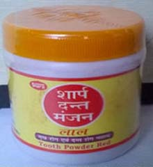 Sharp Dant Manjan is an ayurvedic medicine tooth powder for strong teeth and healthy gums. Sharp Dant Manjan helps in oral and dental disorders such as swollen gums, bleeding gums, toothache and other dental diseases. Sharp Dant Manjan is made from astringent herbal extracts of clove and mint.
