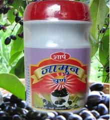 Jamun Guthali Powder, Jamun or Black plum is an important summer fruit, associated with many health and medicinal benefits. The black plum is known to relieve stomach pain, carminative, anti-scorbutic and diuretic. Black Plum fruit and its leaves are good for diabetic patients.