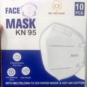 Respirator KN95 white face mask, with earloop mount and nosepin, non woven, Pack of 1 Pcs.